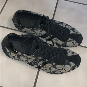 GUC Black Gray Coach Katelyn sneakers size 7M